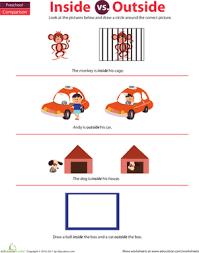 preschool math inside and outside worksheet education com
