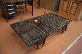 rustic metal coffee table industrial metal coffee table the industrial metal coffee table