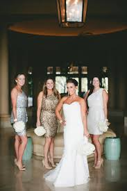 black and white wedding bridesmaid dresses glamorous black white and gold wedding with sequin bridesmaid