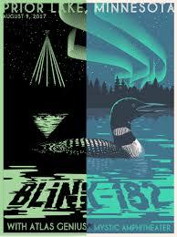 steve thomas illustration blink 182 prior lake mn gig poster