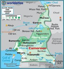 map of cameroon cameroon map geography of cameroon map of cameroon