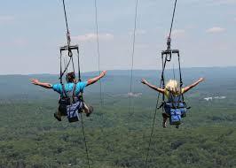 zip line in the pocono mountains adventure parks