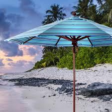 Wood Patio Umbrellas 9 Fiberglass Wood Market Umbrella Ipatioumbrella