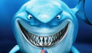smiling u0027 shark bruce finding nemo