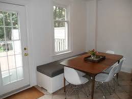 Kitchen Nook Design by Round Table Breakfast Nook My Husband Built This Table And Bench