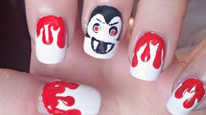 halloween vampire nail art tutorial youtube