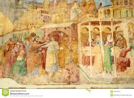 italian art angels painting in a church stock image image 15345381 mural painting royalty free stock photography