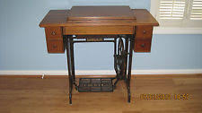 Singer Sewing Machine Desk Antique Sewing Machine Table Ebay