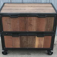 Rustic File Cabinet Buy A Crafted Vintage Industrial File Cabinet Reclaimed Wood
