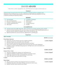 Sample Of Sales Associate Resume Sales Associate Cv Example For Sales Livecareer