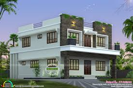 front side and back view of box model home kerala home design