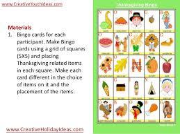 youth icebreaker thanksgiving bingo