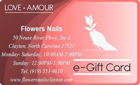 nail salon gift cards e gift cards nail salon clayton nail salon 27527 flowers nails