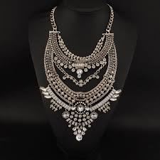 big fashion statement necklace images Manilai bohemia maxi necklaces women fashion rhinestones vintage jpg