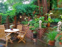 mid century modern shade landscape design ideas for small