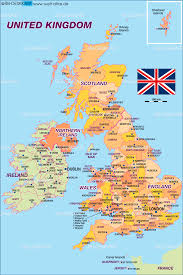 Sheffield England Map by Map Of United Kingdom Great Britain Politically Map In The