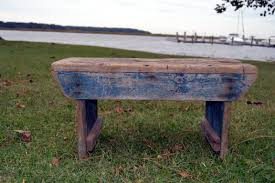 old blue wooden bench these days of mine