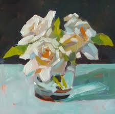 Gardenias by Just Painting Three Gardenias