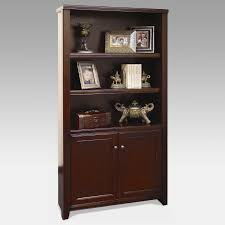 Solid Cherry Wood Bookcase Wooden Bookcases With Doors Style Yvotube Com