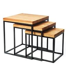 small nest of tables coffee table pine nest of tables for sale low profile coffee table