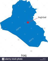 Baghdad Map Detailed Vector Map Of Iraq And Capital City Baghdad Stock Vector