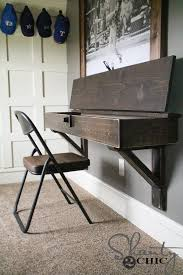 how to build a floating desk diy floating desk with storage shanty 2 chic