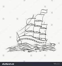 vector illustration ship sailing on sea stock vector 193508876