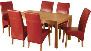 Red Leather Dining Chair Chartlink Furniture Dining Room