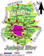 Judetul Ilfov | Harta judetului Ilfov