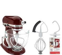 Artisan Kitchenaid Mixer by Kitchenaid 5qt 300w Tilt Head Stand Mixer W Glass Bowl U0026 Flex