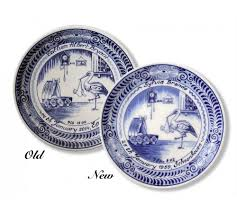 birth plates personalised ceramic delft birth plate