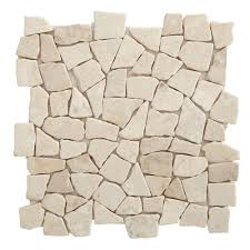 marble white marble effect mosaic tile l 320mm w 320mm