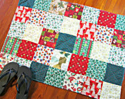 Christmas Bathroom Rugs Christmas Rug Etsy