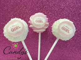 baby shower cake pop gifts tagged