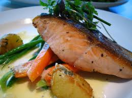 salmon fillets with prosecco sauce en kung food