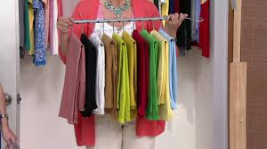 space saving 10 pair pant hanger wardrobe organizer on qvc youtube
