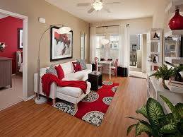 Red And Black Living Room Set Red Living Room Furniture White Rectangle Three Drawers Tv Stand