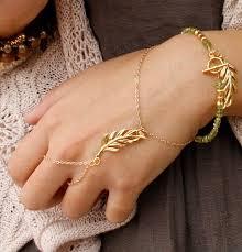 bracelet chain ring images Slave bracelet gold leaf hand chain bracelet gold leaf hand jpg