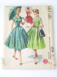 1950 u0027s retro sewing pattern 50s mccalls pattern no 3528 womens