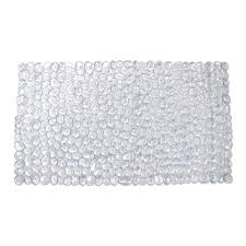 Silver Bath Rugs Shop Style Selections 30 In X 17 In Clear Polyester Bath Mat At