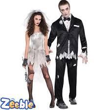 Zombie Costume Couples Idea Halloween Bride U0026 Groom Fancy Dress Zombie Costume