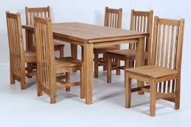 solid oak table with 6 chairs salto dining table and six chairs dining set rustic solid wood wax