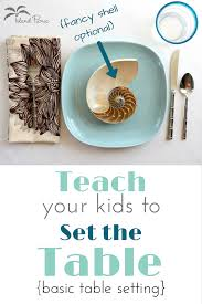 How To Set A Table Teach Your Kids How To Set The Table
