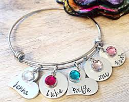 mothers birthstone bracelets mothers day jewelry etsy