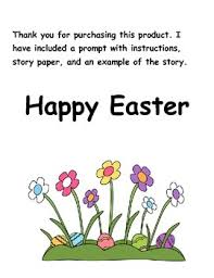 the story of the easter bunny easter bunny is sick prompt story paper and original story exle
