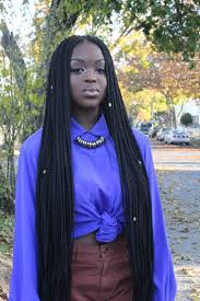 Hairstyles With Jumbo Braiding Hair Best 25 Thick Box Braids Ideas On Pinterest Protective Styles