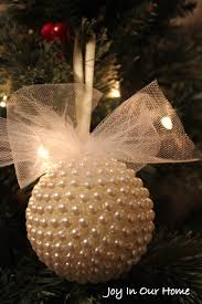 pretty pearl ornament handmade ornament hop
