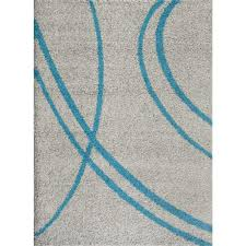Teal And Gray Area Rug by World Rug Gallery Soft Cozy Contemporary Stripe Turquoise Gray 7