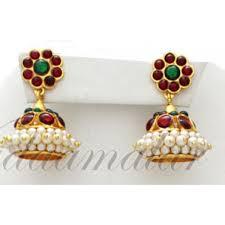 kerala style earrings temple jewellery necklace choker earrings and green