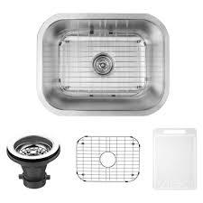 Artisan Sink Grid by Vigo Undermount Stainless Steel 23 In Single Bowl Kitchen Sink